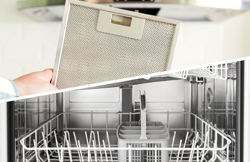 How to Clean Range Hood Filters in the Dishwasher
